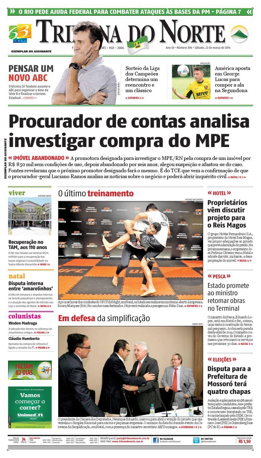 749a2be0ff Tribuna do Norte - 22 03 2014 by Empresa Jornalística Tribuna do Norte Ltda  - issuu