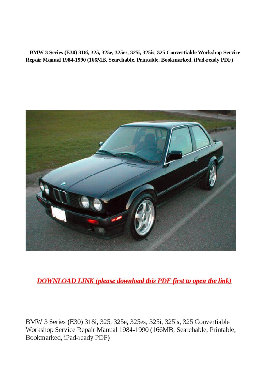 ... Array - bmw 3 series e30 318i 325 325e 325es 325i 325is 325 rh ...