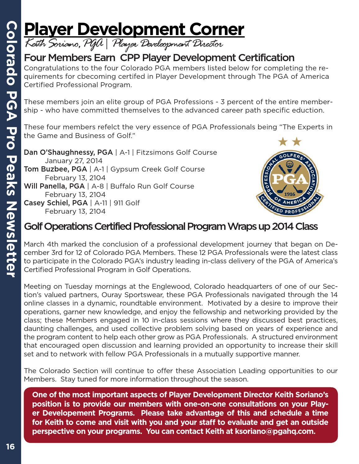 Colorado Pga March 2014 Newsletter By Colorado Pga Issuu