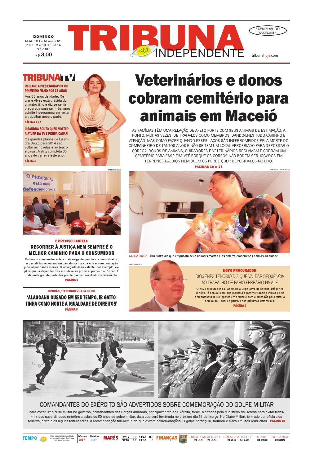 e42a394eb14bf Edição número 2002 - 23 de março de 2014 by Tribuna Hoje - issuu