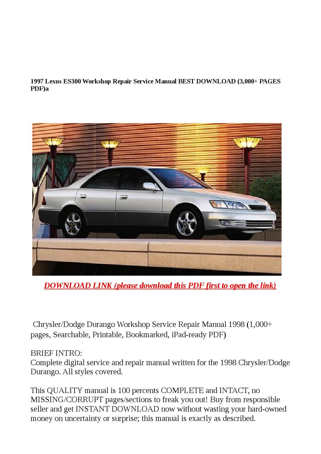 Lexus Se 400 1997 Service Manual