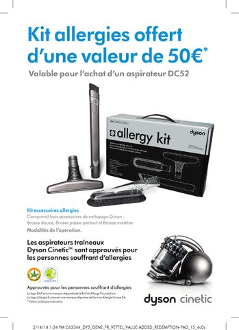 dyson kit allergie 50 offert by anti issuu. Black Bedroom Furniture Sets. Home Design Ideas