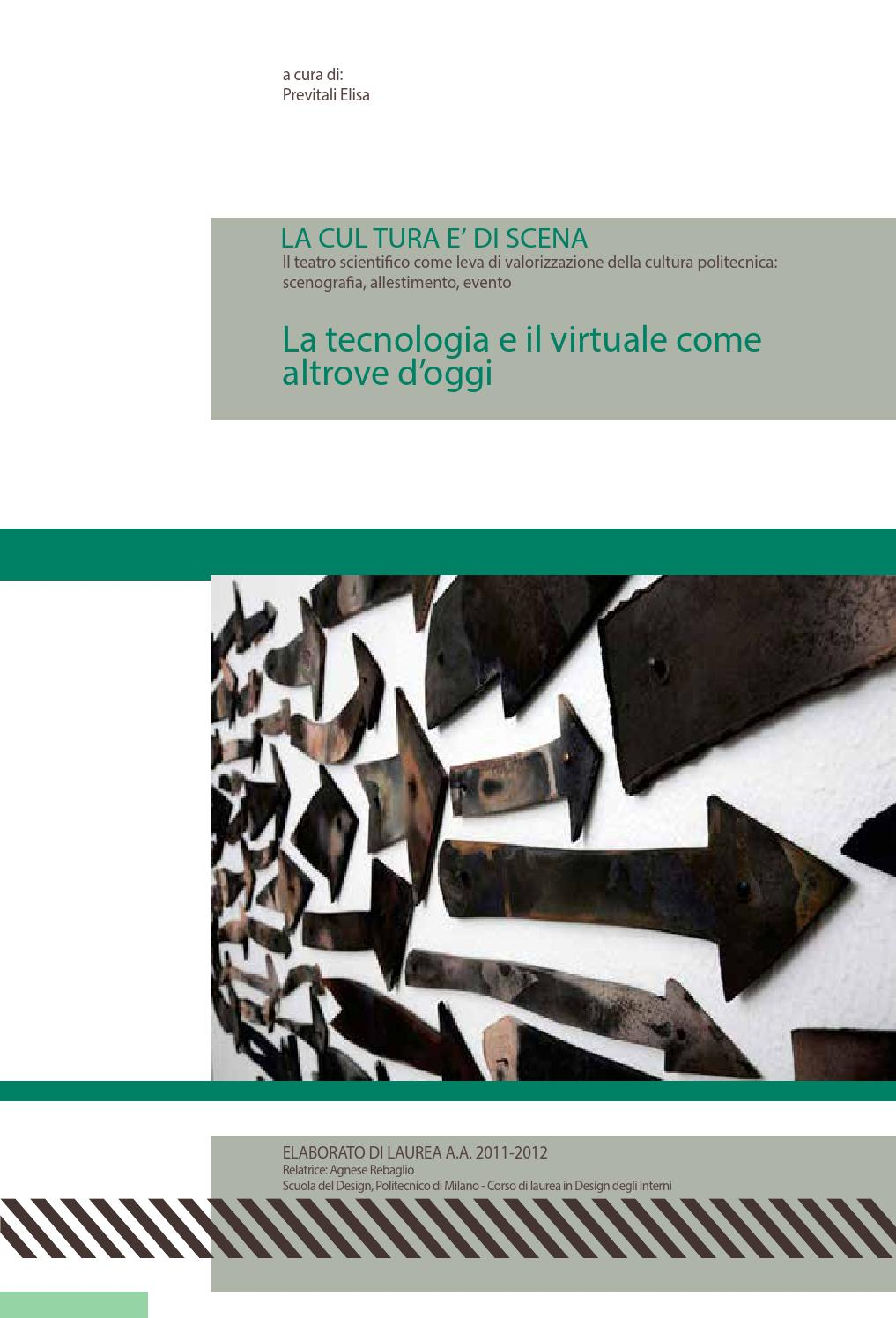 Tesi di laurea by elisa previtali issuu for Laurea design milano
