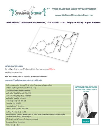 Androxine 50 mg daily side effects