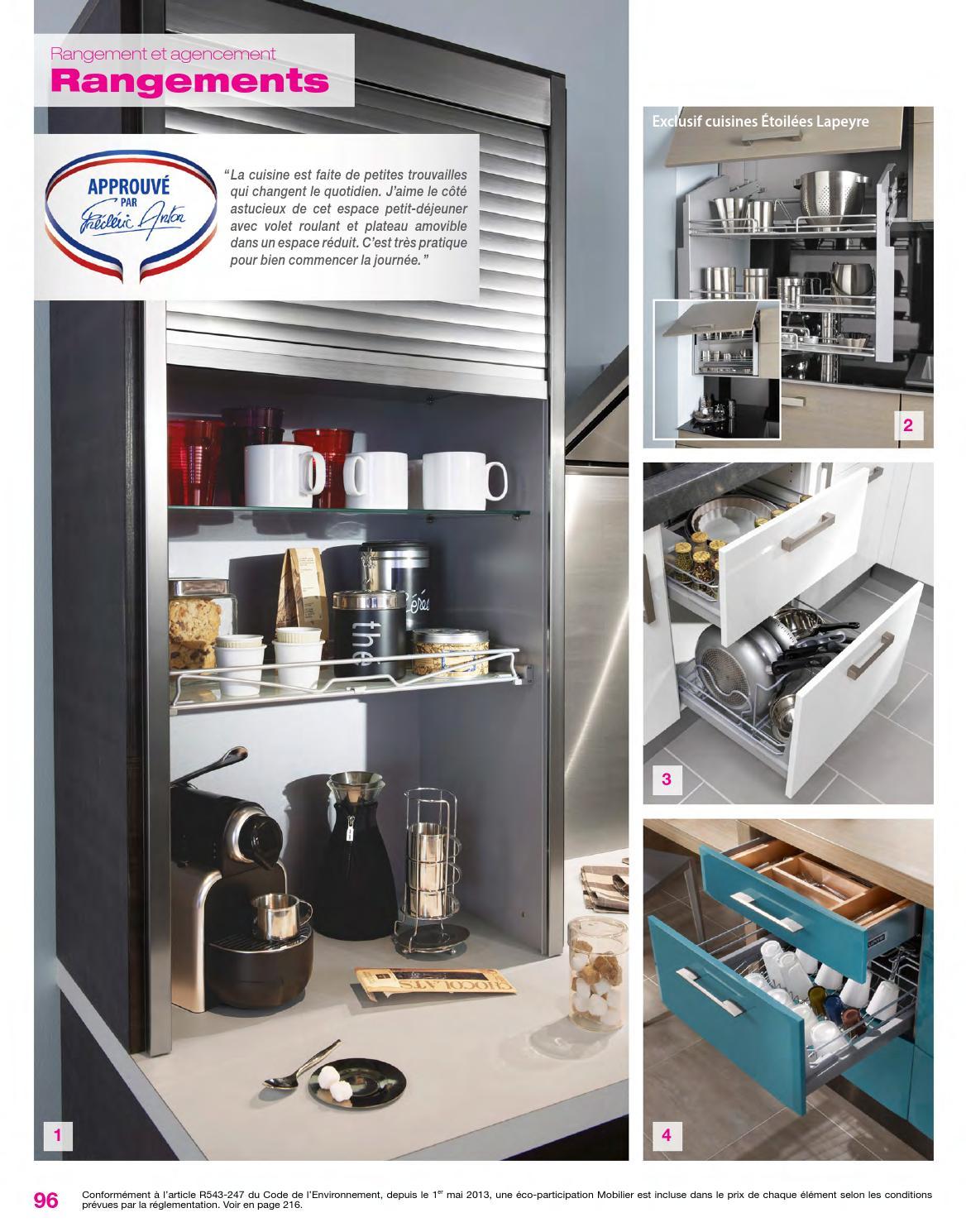 Rangement Petit Dejeuner Cuisine catalogue lapeyre - cuisines & électroménager 2014joe