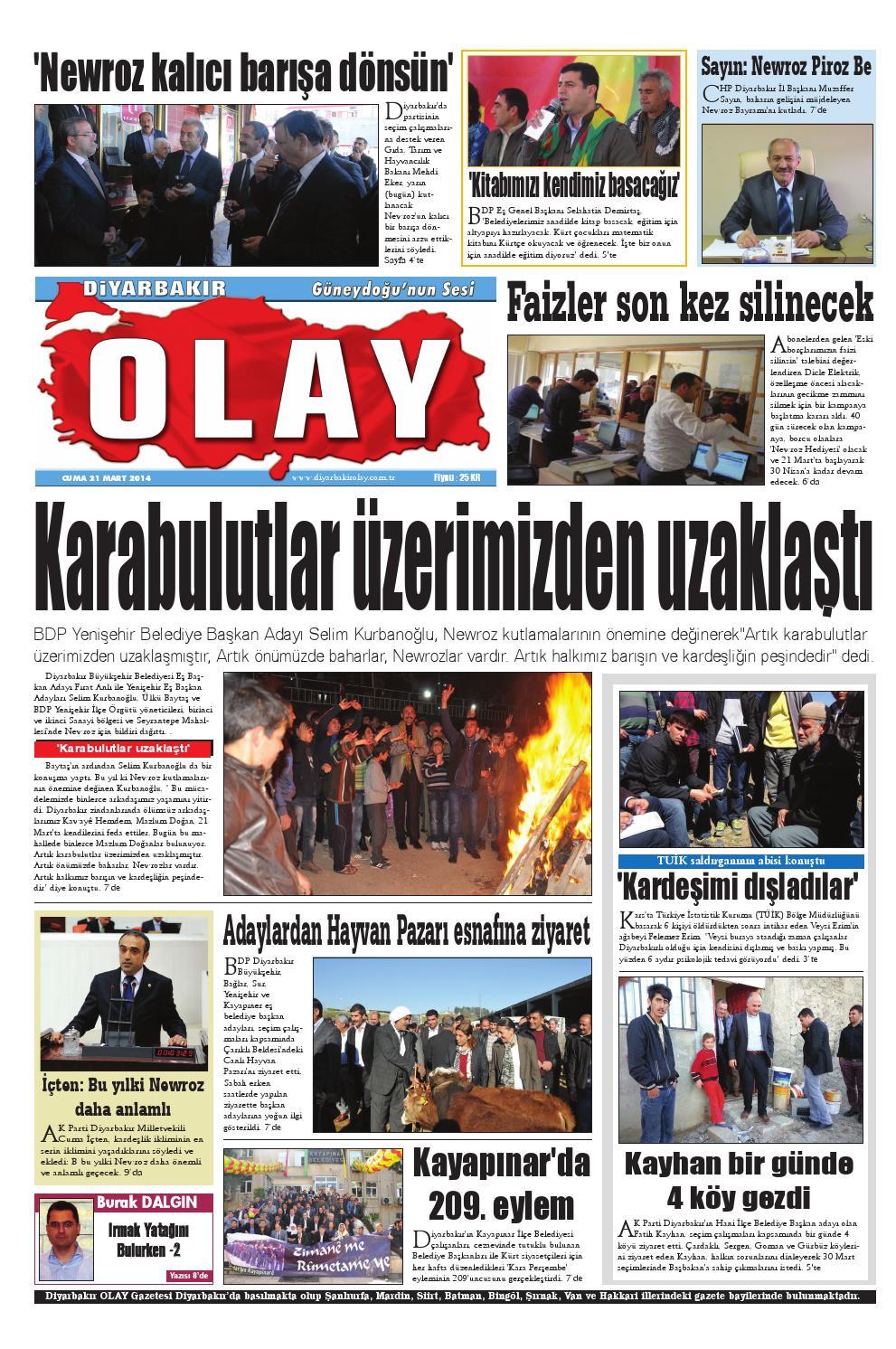21 03 2014 Gazete Sayfalari By Diyarbakir Olaygazetesi Issuu