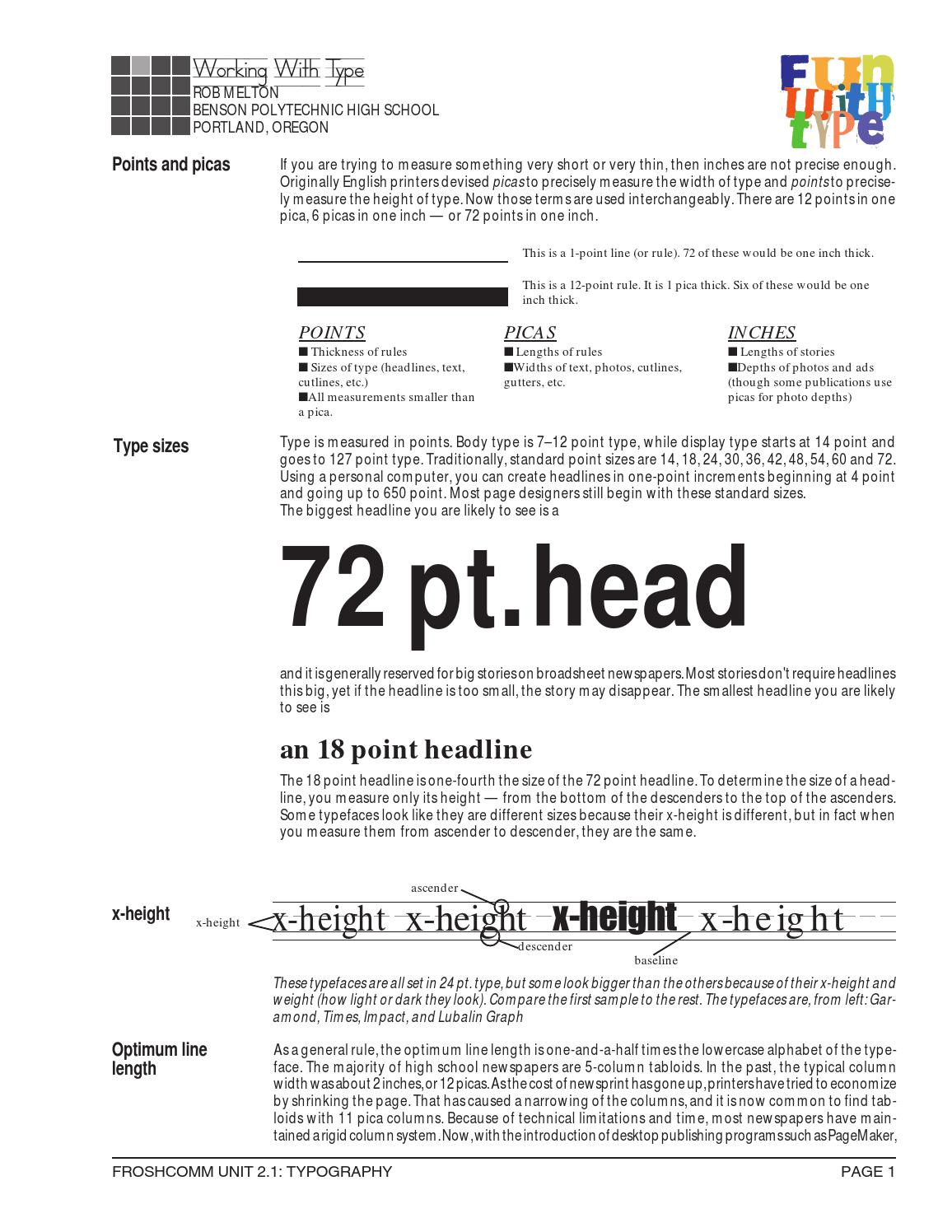 Typography by Rob Melton - issuu