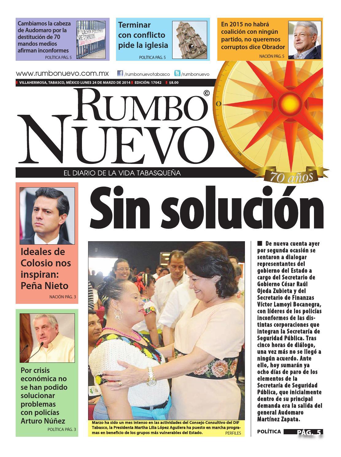 Principal lunes 24 de marzo 2014 by Grupo Rumbo Nuevo - issuu