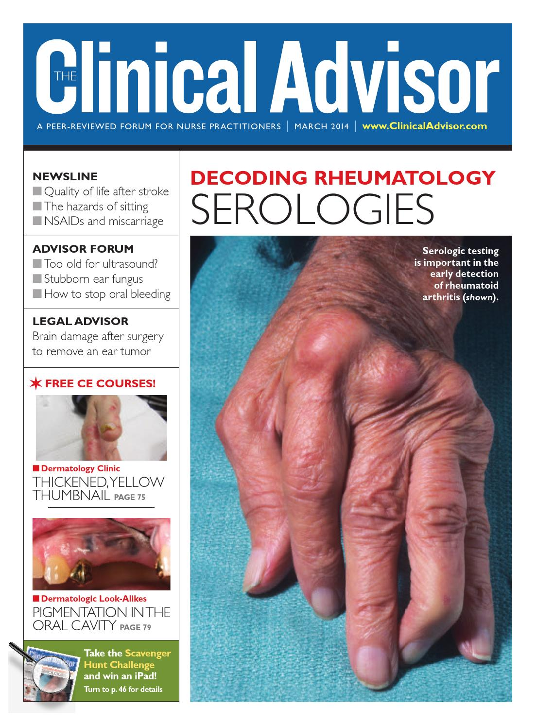 March 2014 Clinical Advisor by The Clinical Advisor , issuu