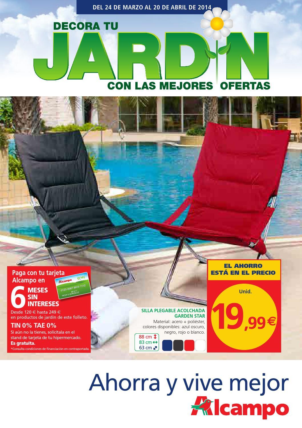 Jardin nacional alcampo by losdescuentos issuu - Mesas y sillas de jardin alcampo ...