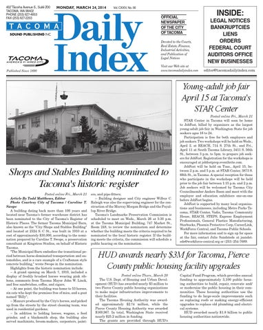 Tacoma Daily Index March 24 2014 By Sound Publishing Issuu