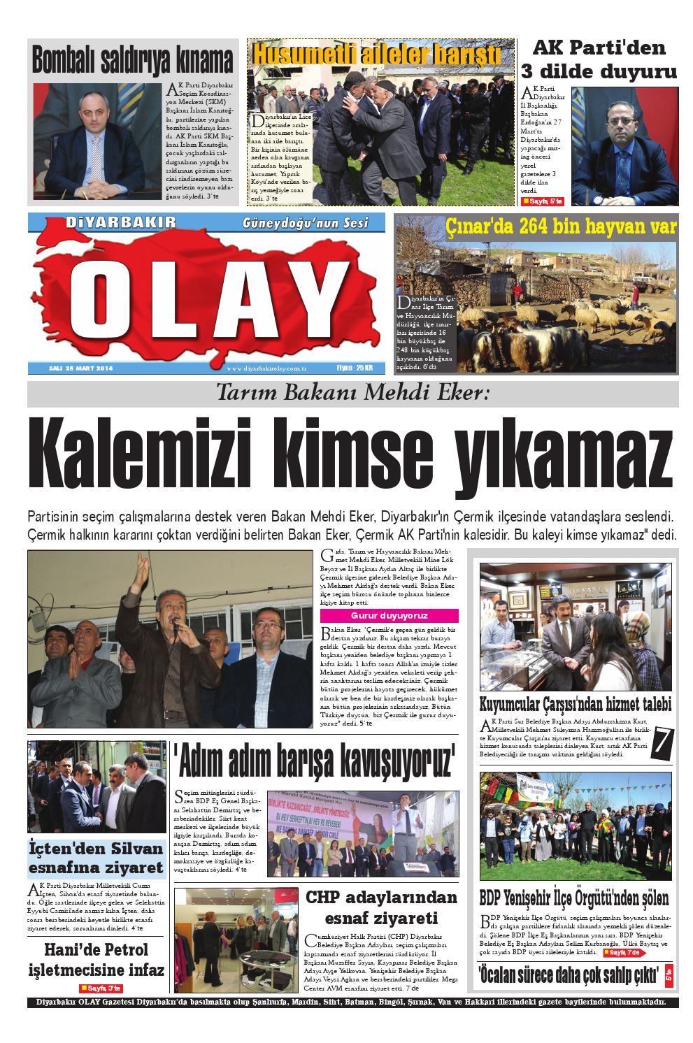 25 03 2014 Gazete Sayfalari By Diyarbakir Olaygazetesi Issuu