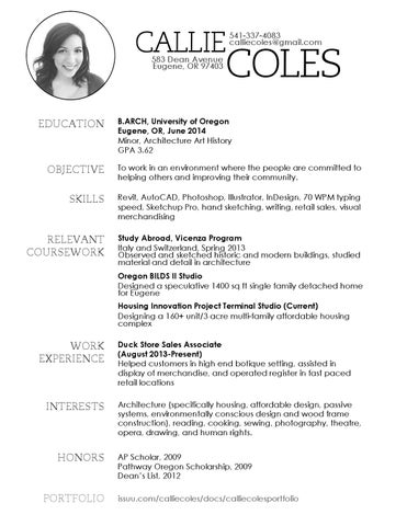 callie coles resume by callie coles issuu