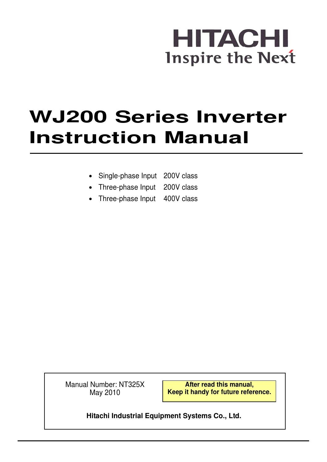 Hitachi Wj200 Series Inverter Instruction Manual By America Compact Fourquadrant Lockin Amplifier Generates Two Analog Outputs Ltd Industrial Components And Equipment Division Issuu