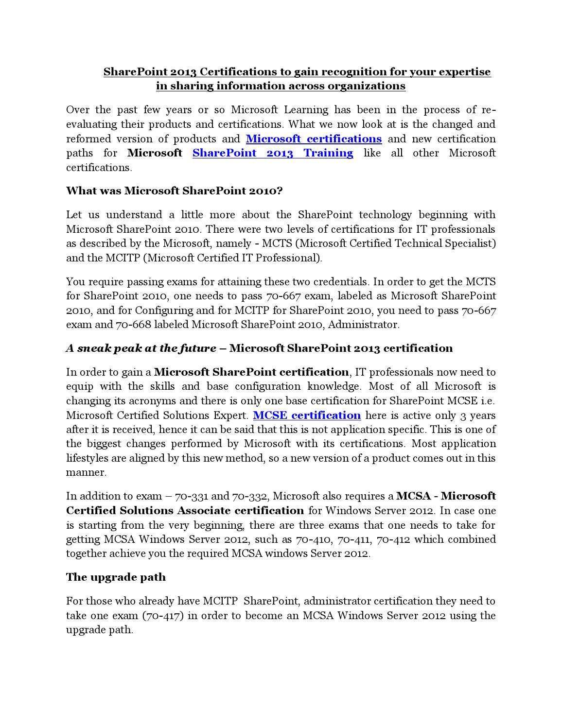 Microsoft sharepoint 2013 training and certifications pdf by microsoft sharepoint 2013 training and certifications pdf by ittraining issuu 1betcityfo Choice Image