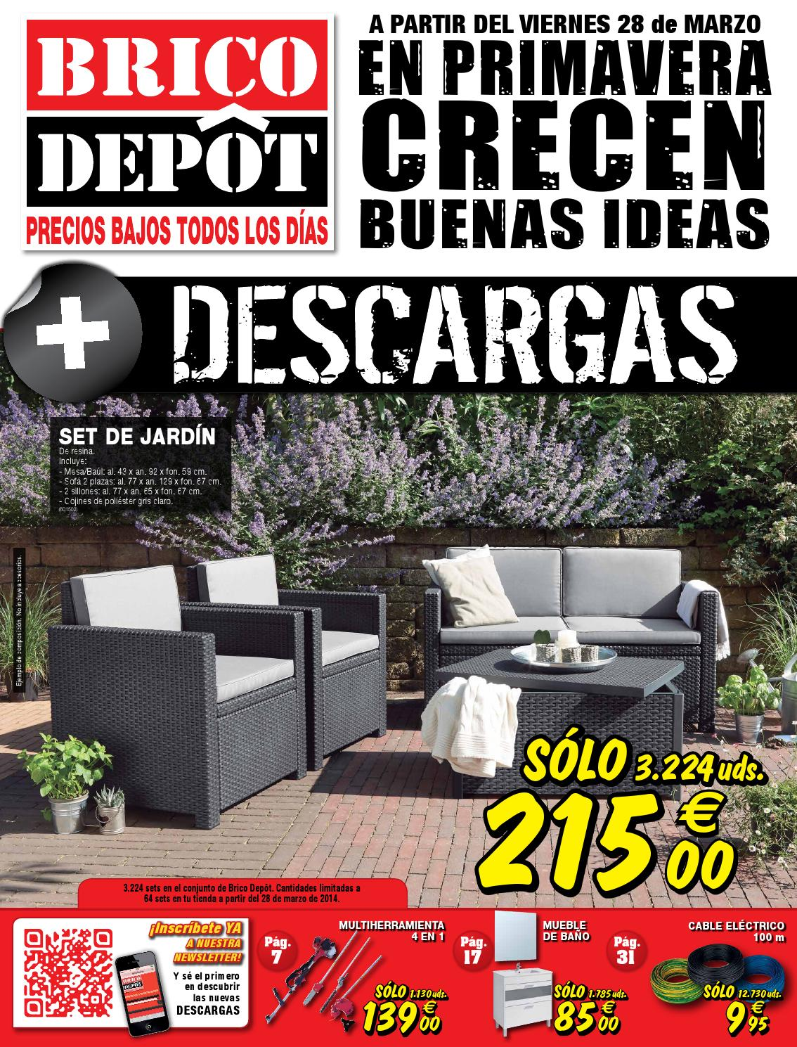 bricodepot catalogue 28marzo 10abril2014 by issuu. Black Bedroom Furniture Sets. Home Design Ideas