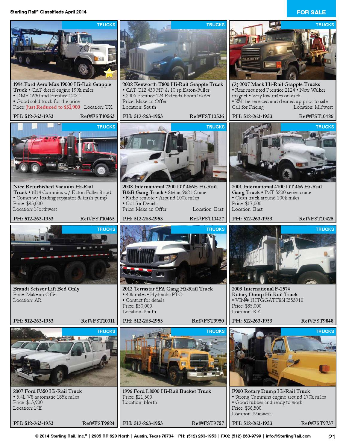 Sterling Rail Classifieds April 2014 Issue by Sterling Rail