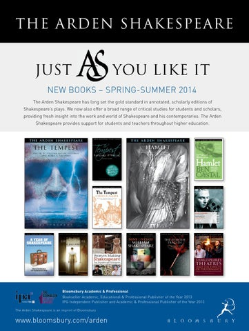 Arden Shakespeare New Books Spring Summer 2014 By Bloomsbury