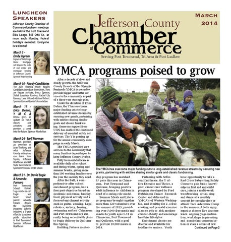 Chamber Newsletter March 2014 By Port Townsend Leader Issuu