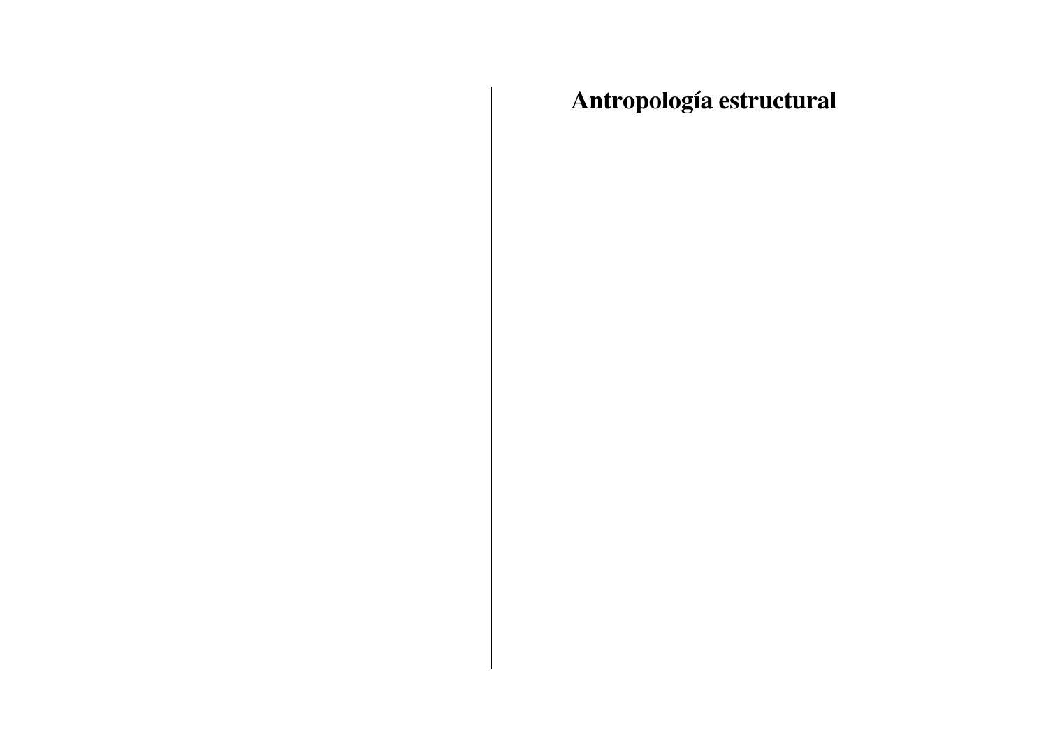 Lévi strauss antropología estructural by Escuela de Derechos Humanos ...