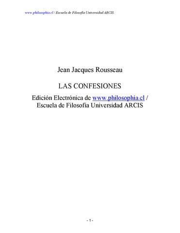 Jean jacques rousseau confesiones by Escuela de Derechos Humanos ...