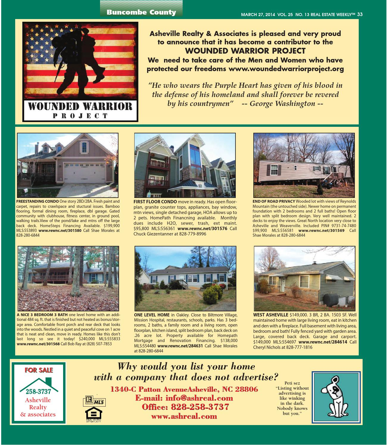 The Real Estate Weekly Vol  25 Issue 13 by WNC Homes & Real