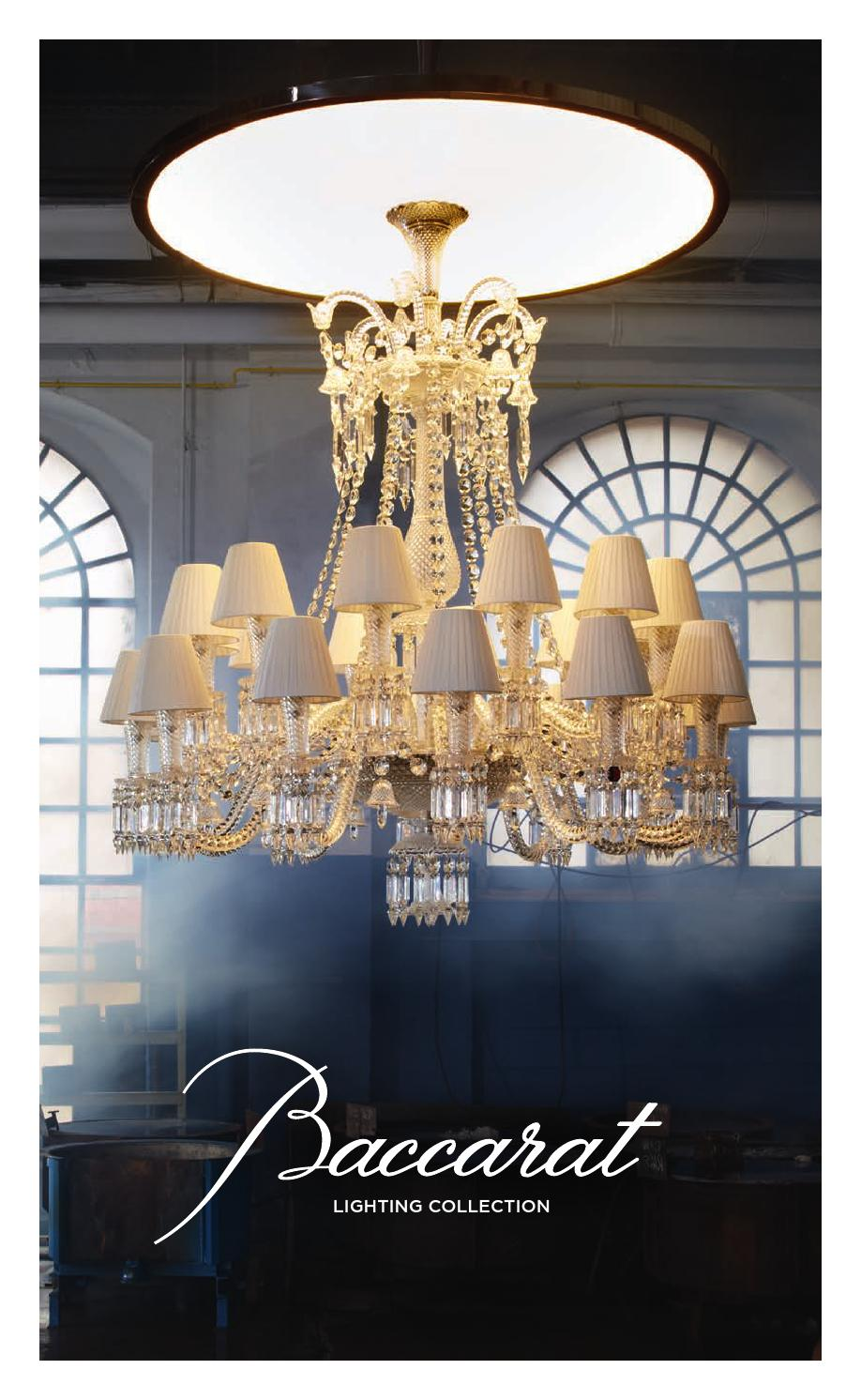 Baccarat Lighting Collection 2014 By Baccarat Issuu