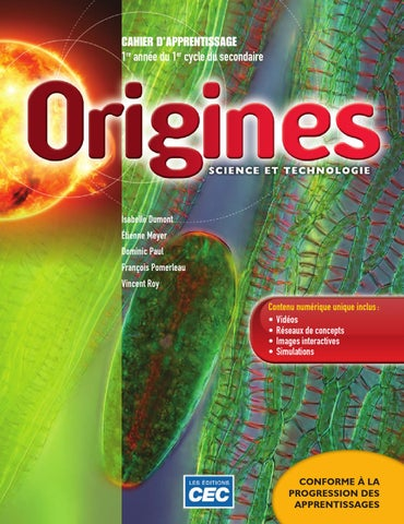 1er Cycle Secondaire >> Origines Cahier 1 by Les Éditions CEC - Issuu