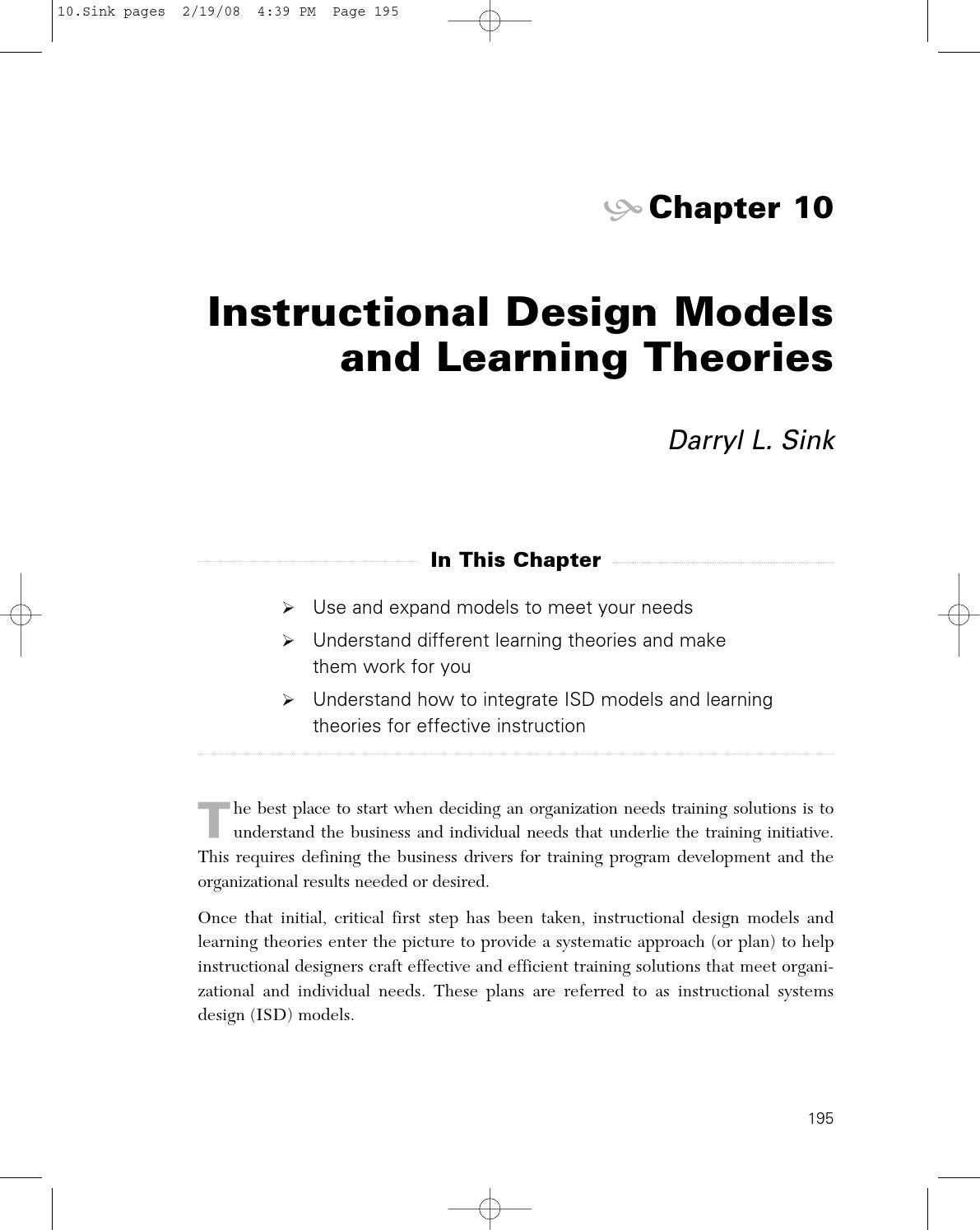 Instructional Design Models And Learning Theories By Universidad Da Vinci Issuu