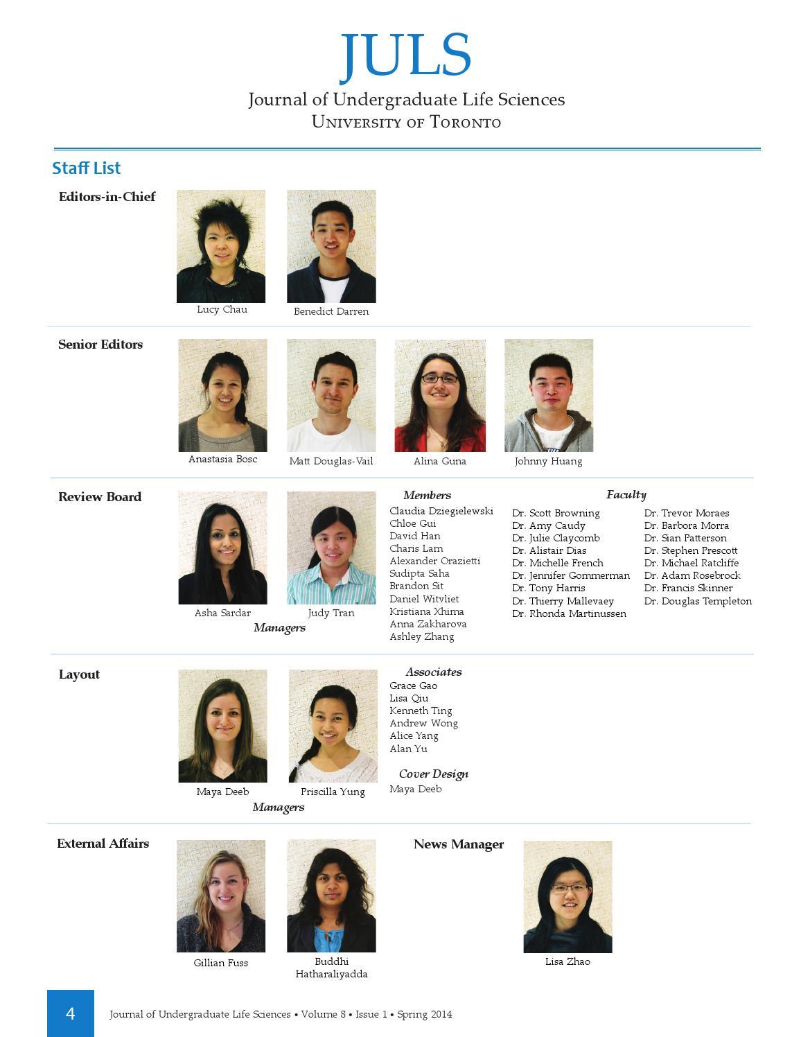 Journal of Undergraduate Life Sciences Volume 8 Issue 1 Spring 2014