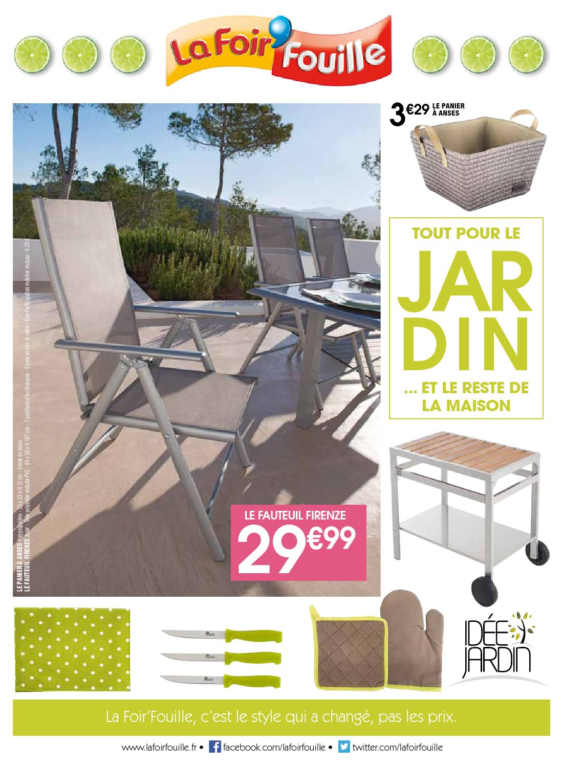 catalogue la foir fouille tout pour le jardin by joe. Black Bedroom Furniture Sets. Home Design Ideas