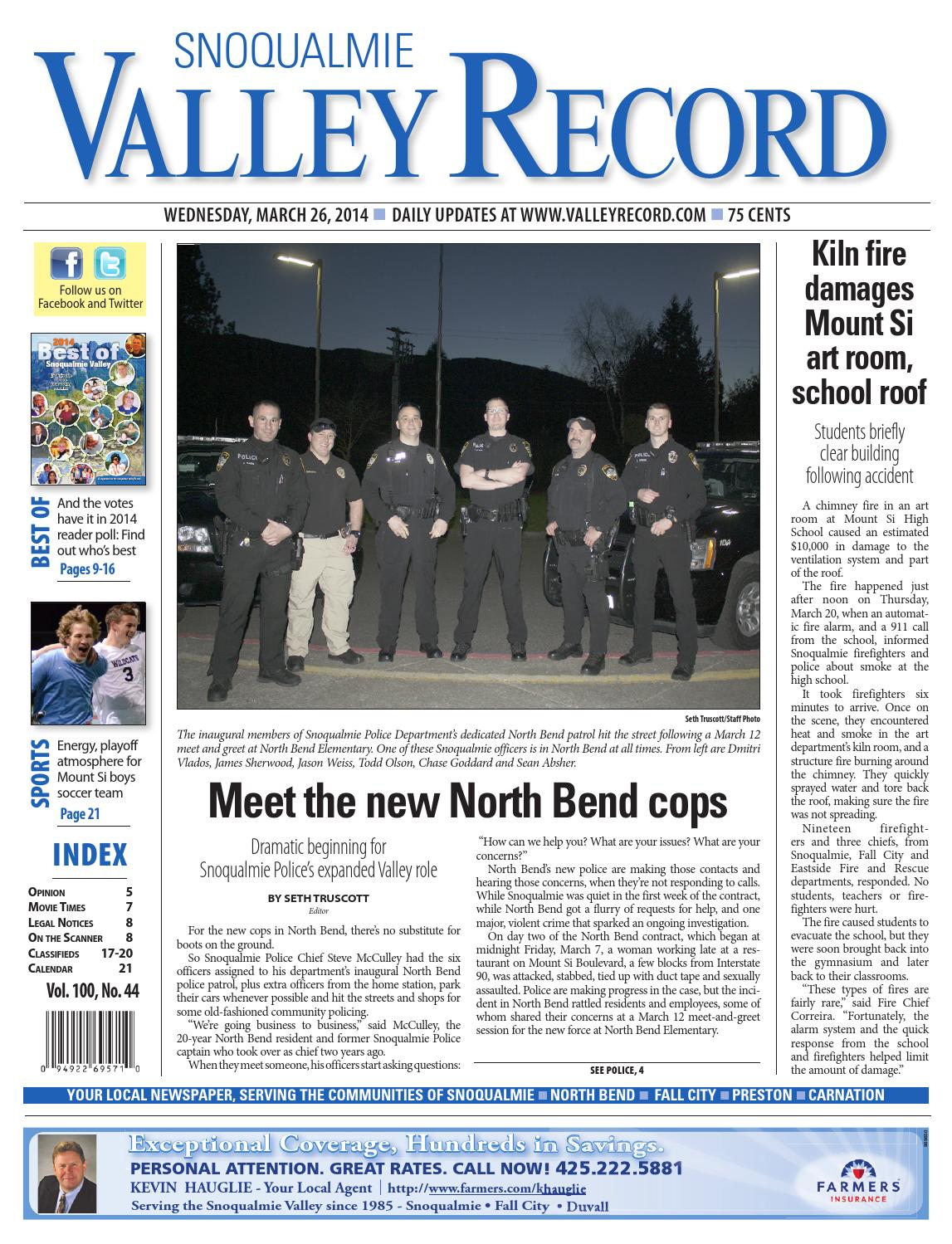 Snoqualmie Valley Record, March 26, 2014 by Sound Publishing - issuu