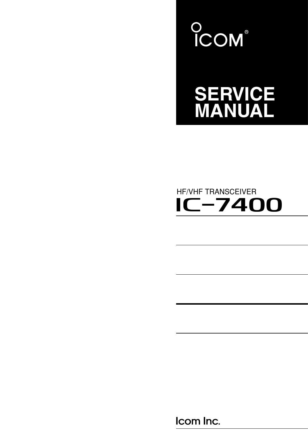 Ic 7400 Service Manual 1 By Fernando Luiz De Souza Issuu Free Schematic Diagram 1hz Up To 22mhz Generator Using Max038
