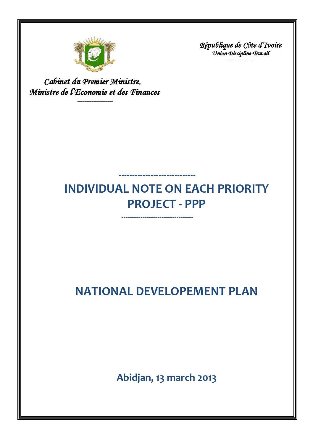 Ivory Coast - National Development Plan by jyasper - issuu on