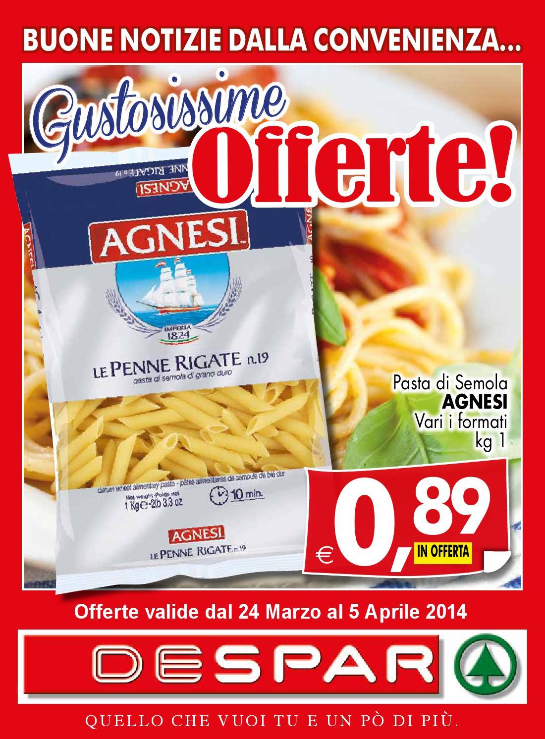 Volantino affiliati 24 marzo 5 aprile 2014 by despar for Volantino offerte despar messina