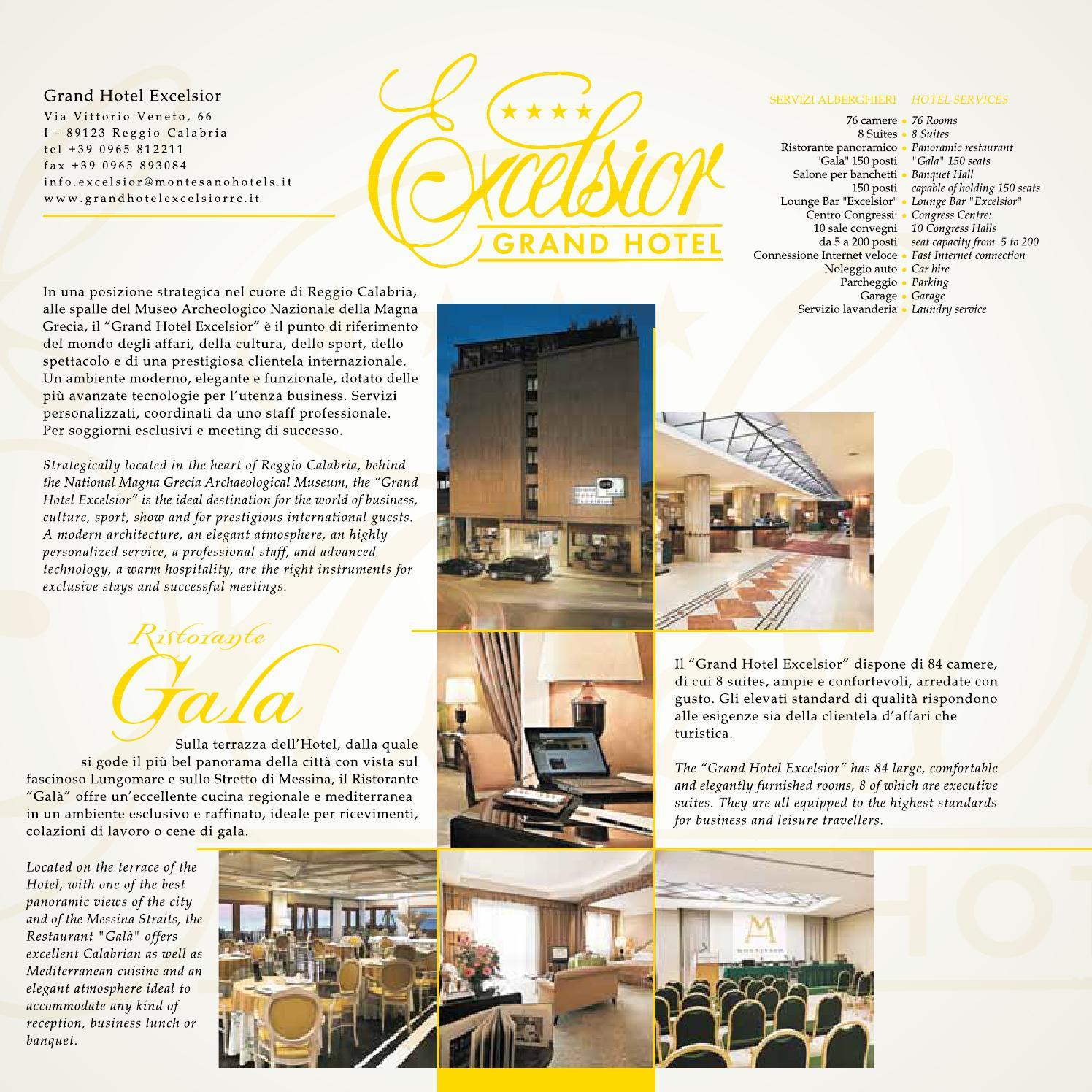Grand Hotel Excelsior Reggio Calabria By Blastness Srl Issuu