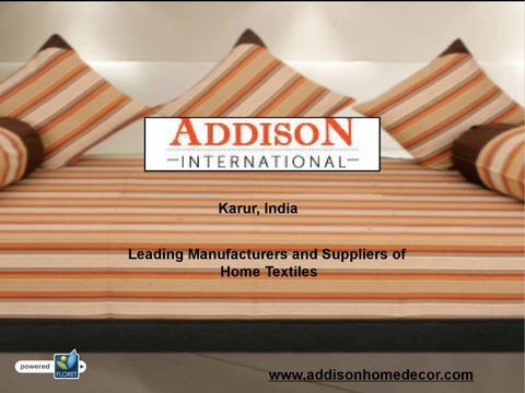 Home Textile Manufacturers - Addison International by