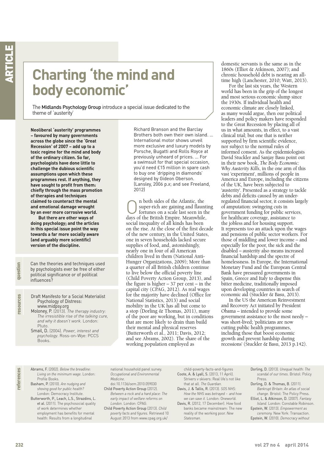 The Psychologist April 2014 by The British Psychological