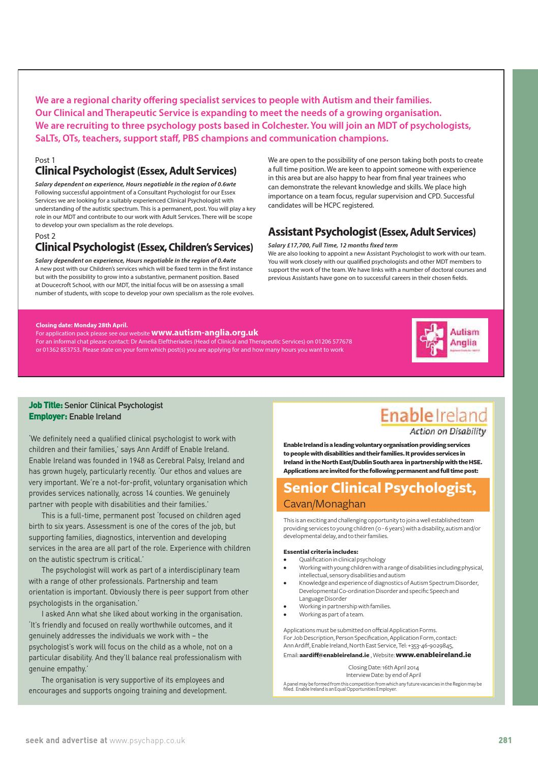 The Psychologist April 2014 By The British Psychological Society Issuu