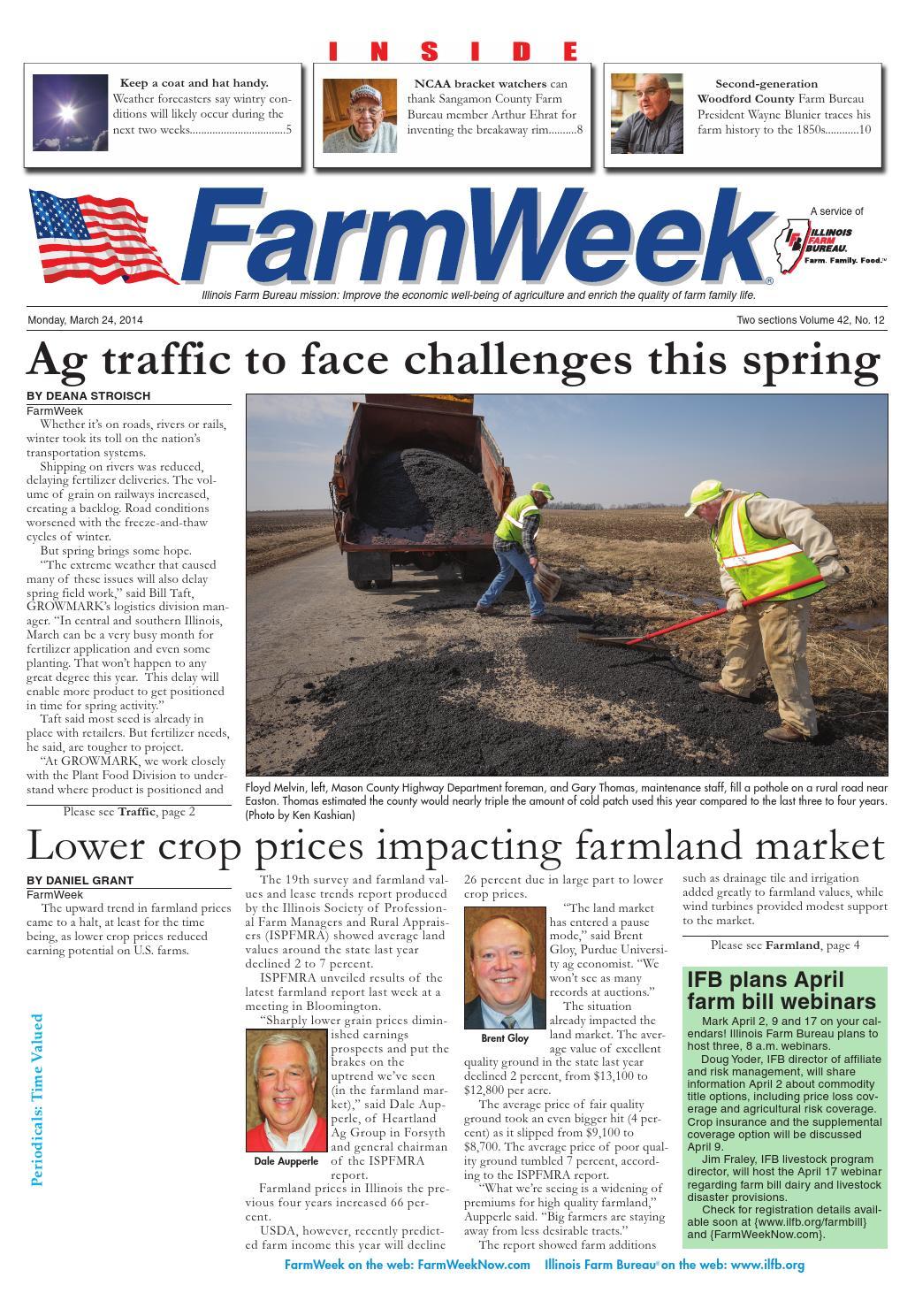 Farmweek march 24, 2014 by Illinois Farm Bureau - issuu