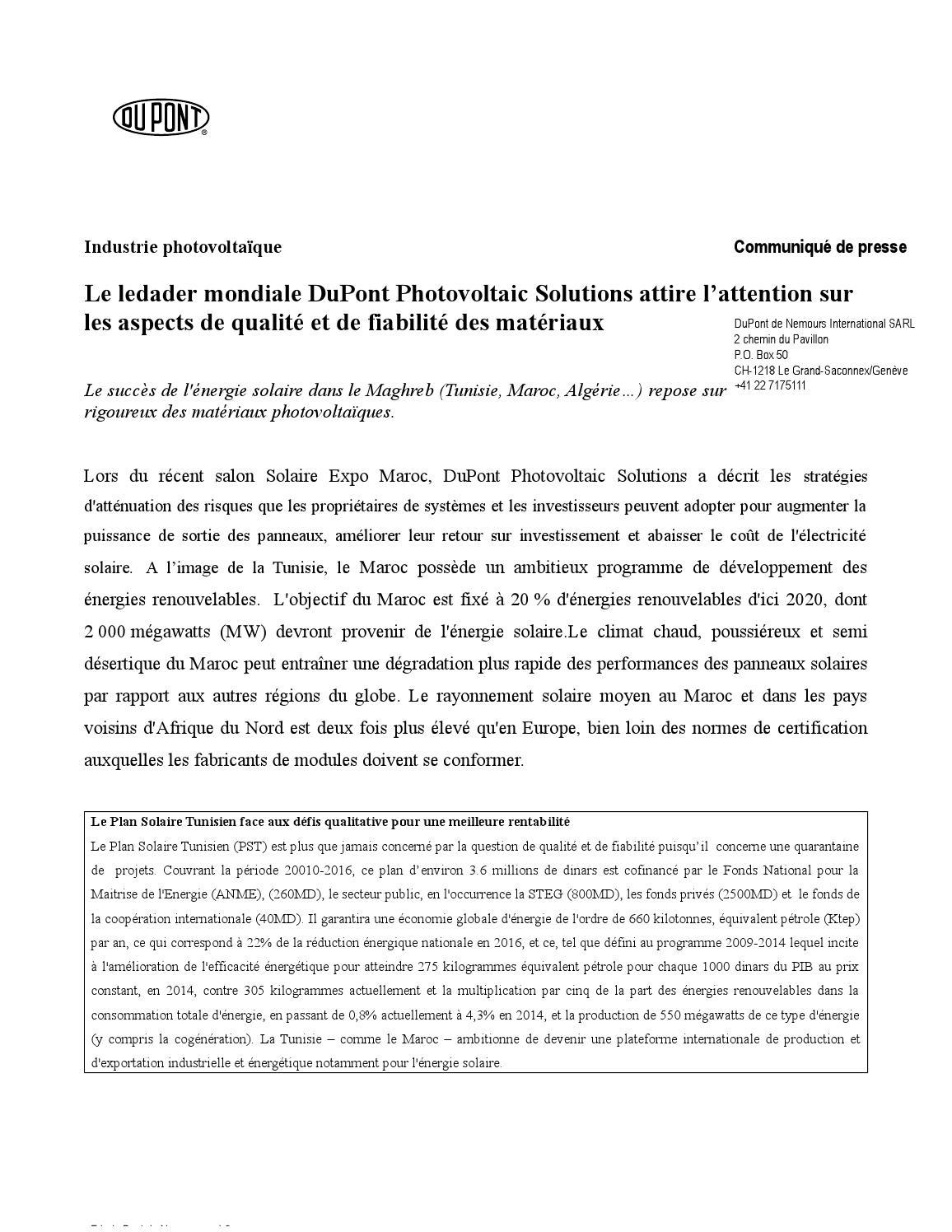 Cp Tunisie Dupont Final Fr 1 By Globus Media Issuu