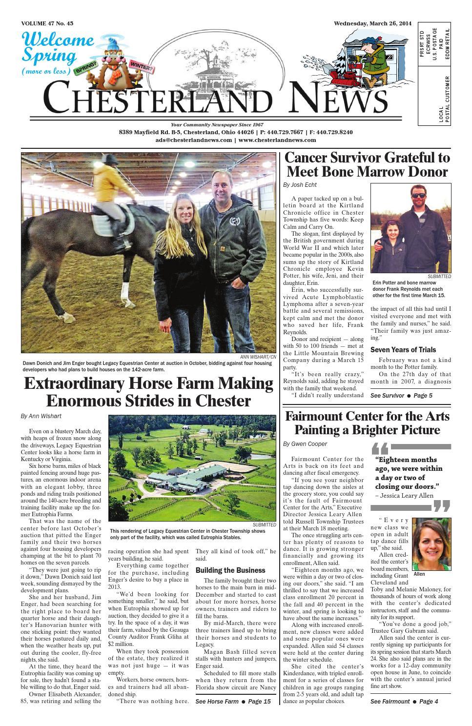 Chesterlandnews 3 26 14 By Chesterland News Issuu