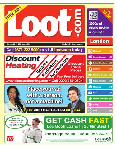 Loot london 23rd march 2014 by loot issuu page 1 fandeluxe Gallery