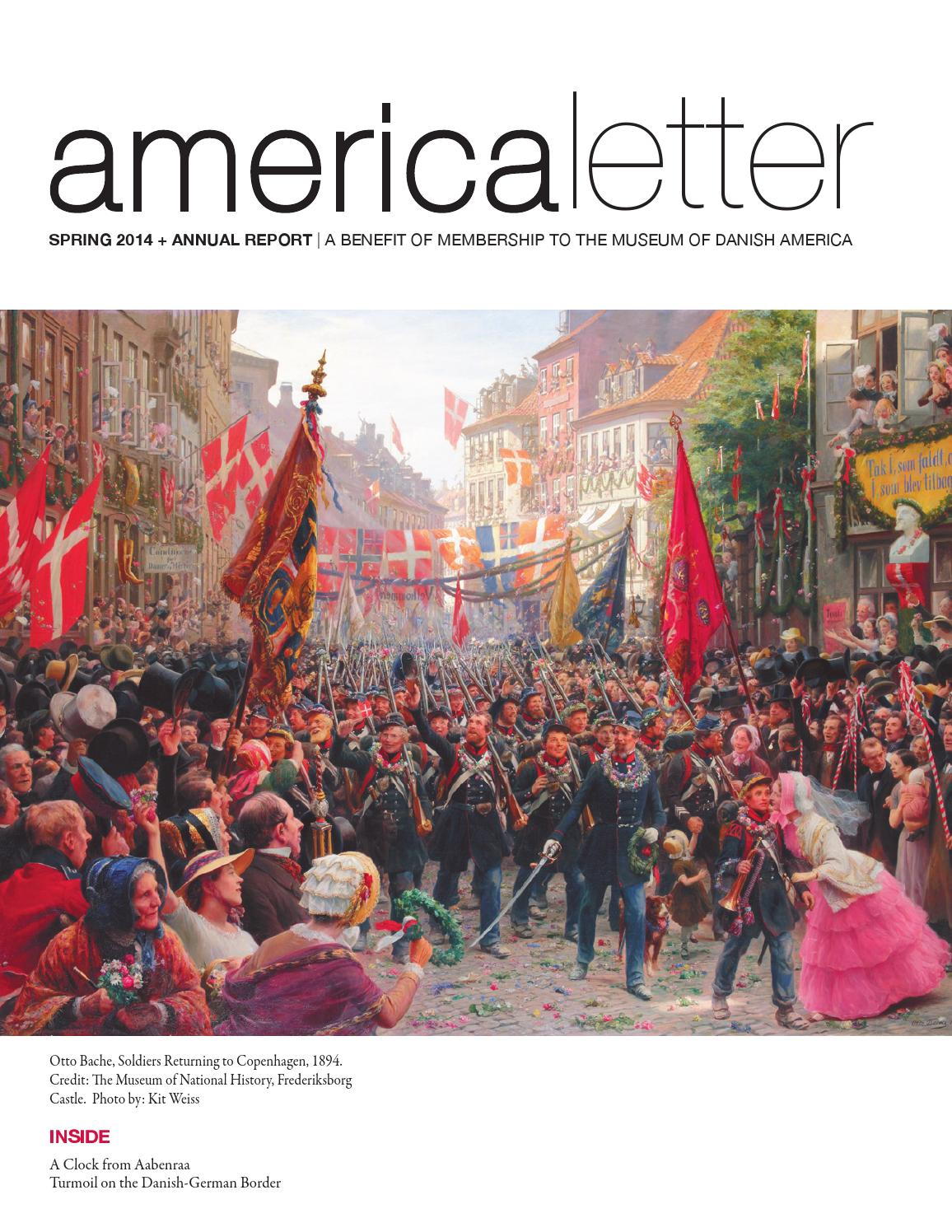 Spring 2014 America Letter Annual Report By Museum Of Danish