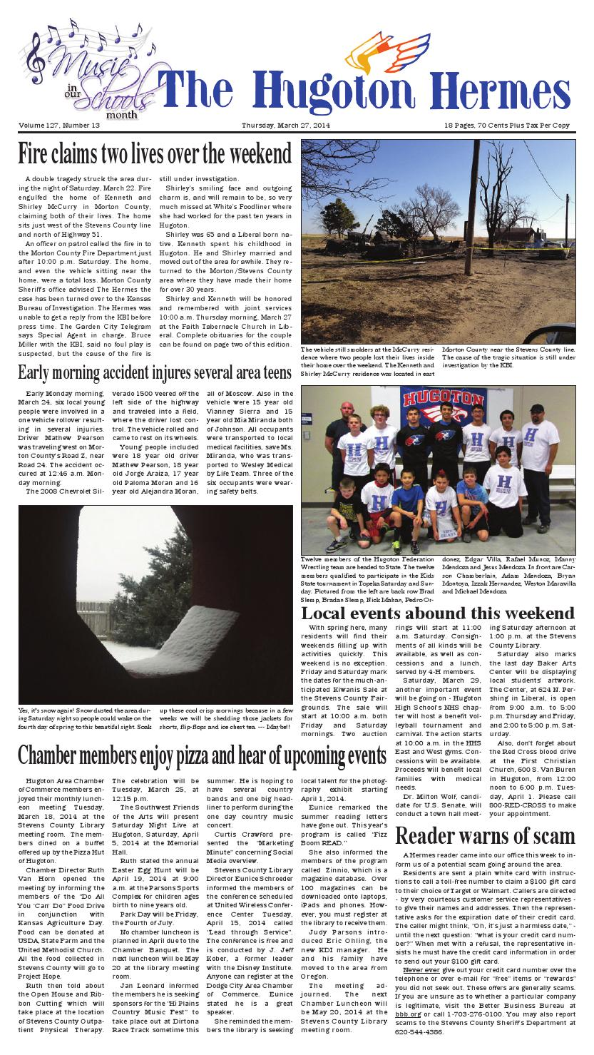 March 27, 2014 by Hugoton Hermes - issuu on