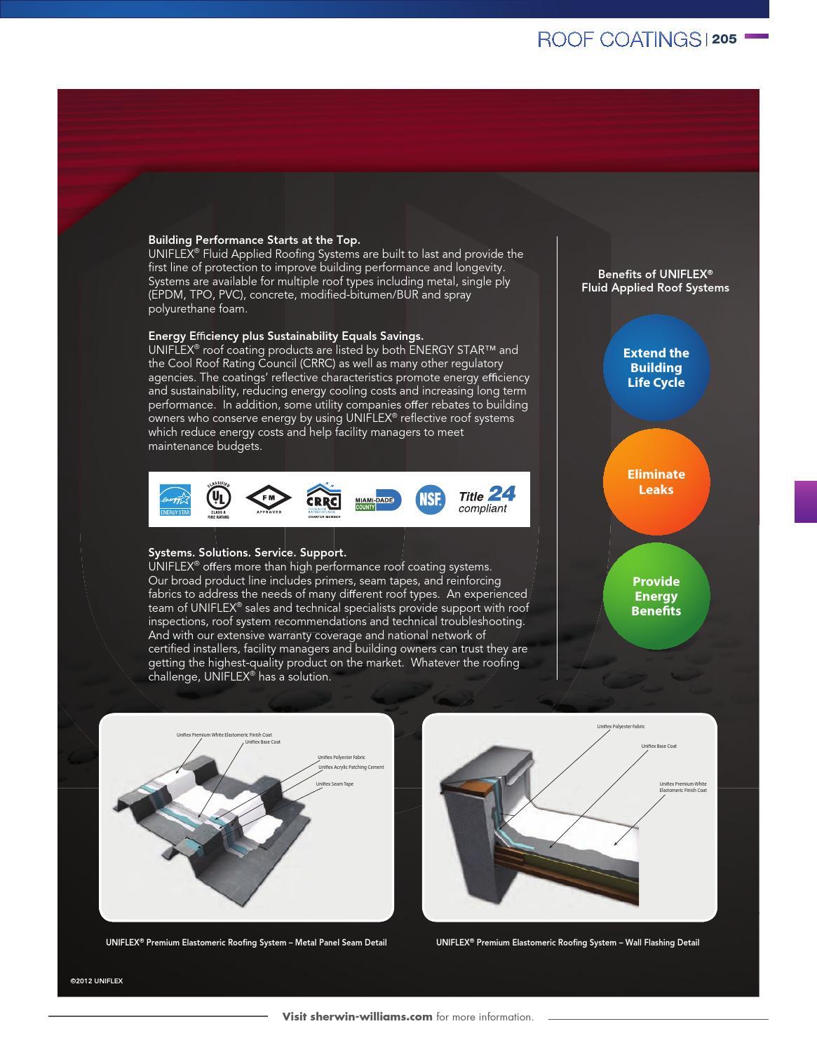 100af Non Fibered Emulsion Roof Coating. Uniflex