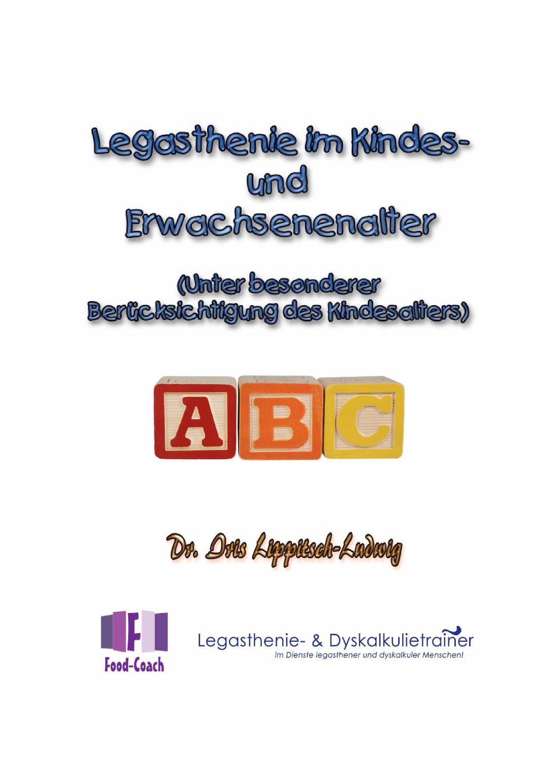 Legasthenie im Kindes und Erwachsenenalter by Dyslexia Research ...