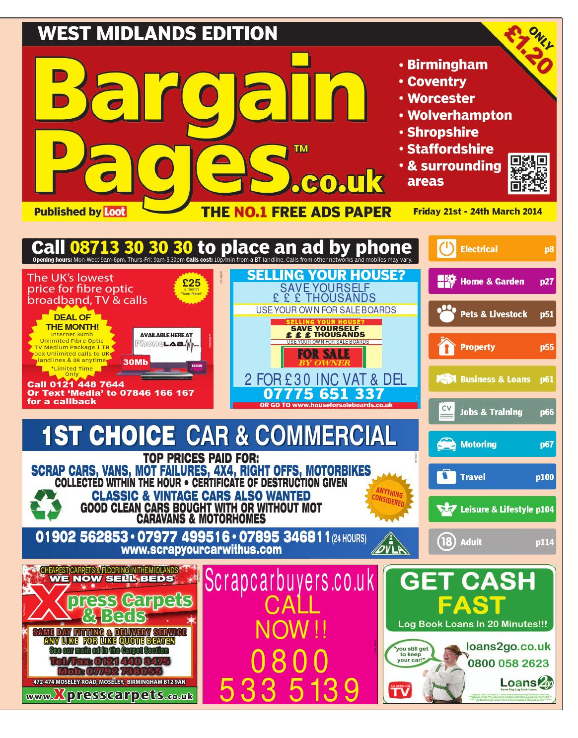 faf14fb20d5c Bargain Pages West Midlands, 21st March 2014 by Loot - issuu