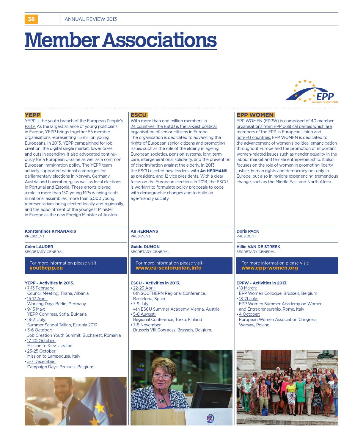 EPP Annual Review 2013 by European People's Party - issuu