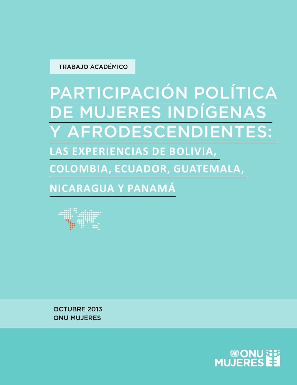 Participacion Política de Mujeres Indígenas y Afrodecendientes by ...